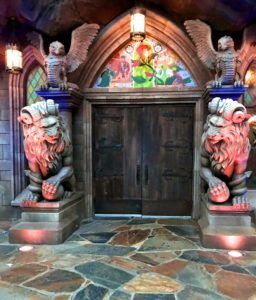 Entrance to Beast's Castle and Be Our Guest restaurant