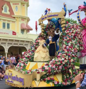 Beauty and the Beast in the Festival of Fantasy Parade
