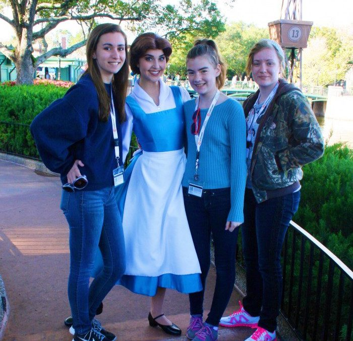 Where to meet Belle from Beauty and the Beast