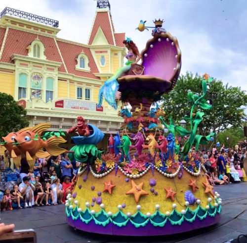 The Little Mermaid in Festival of Fantasy Parade